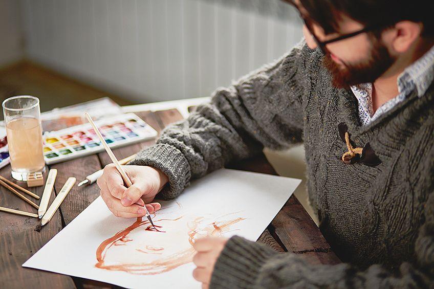Watercolor Flesh Color