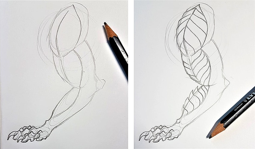 Drawing Dragon Scales Step 1