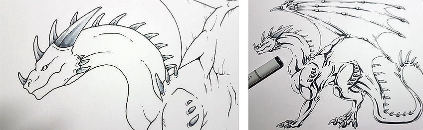 How to Draw Dragons Step 10
