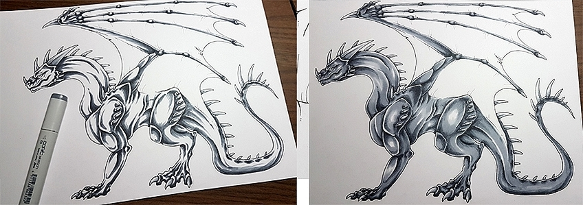How to Draw Dragons Step 11