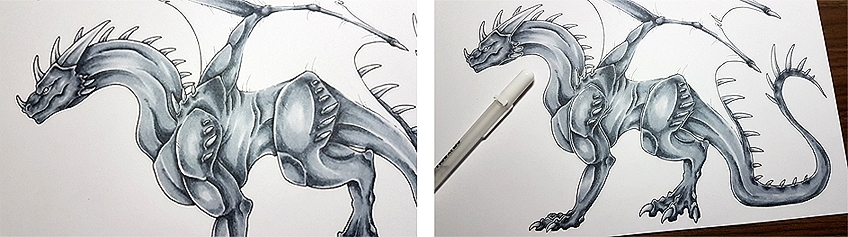 How to Draw Dragons Step 12