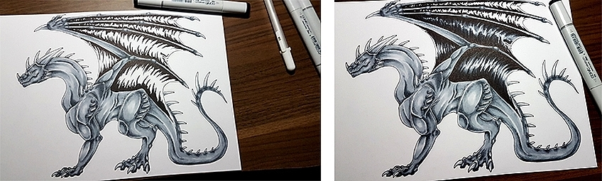 How to Draw Dragons Step 13