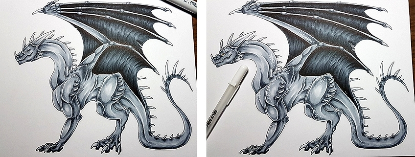 How to Draw Dragons Step 14
