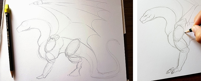 How to Draw Dragons Step 2