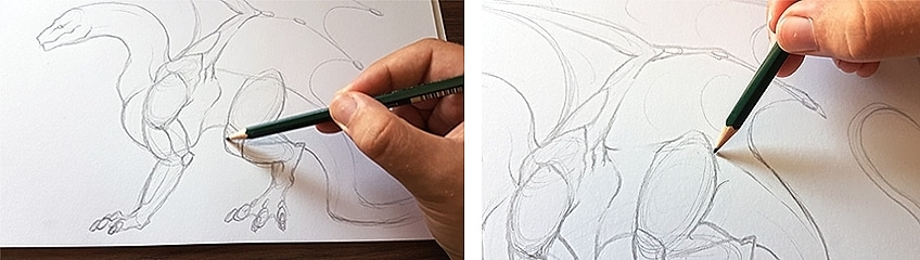 How to Draw Dragons Step 3