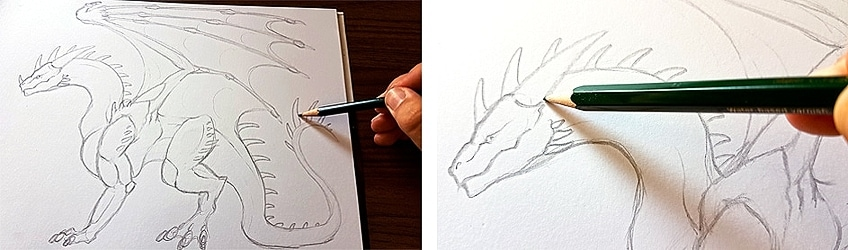 How to Draw Dragons Step 5