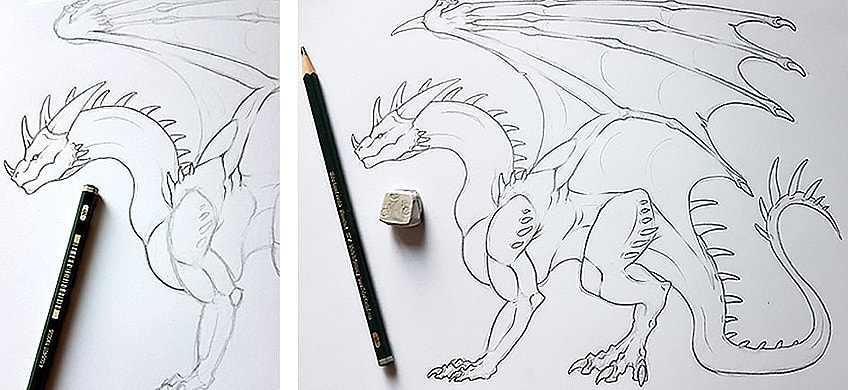 How to Draw Dragons Step 6