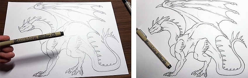 How to Draw Dragons Step 7
