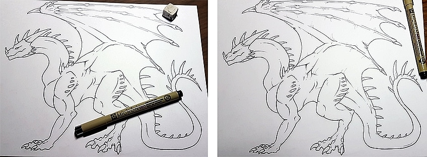How to Draw Dragons Step 8