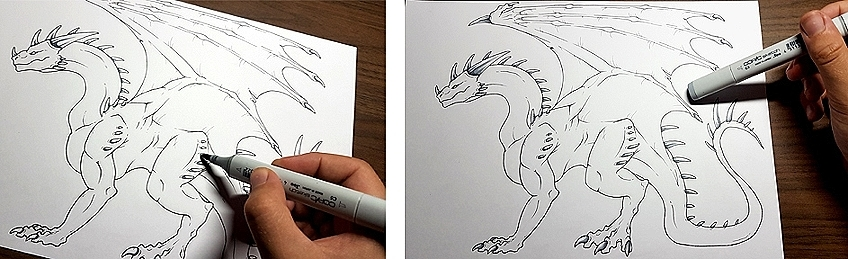 How to Draw Dragons Step 9