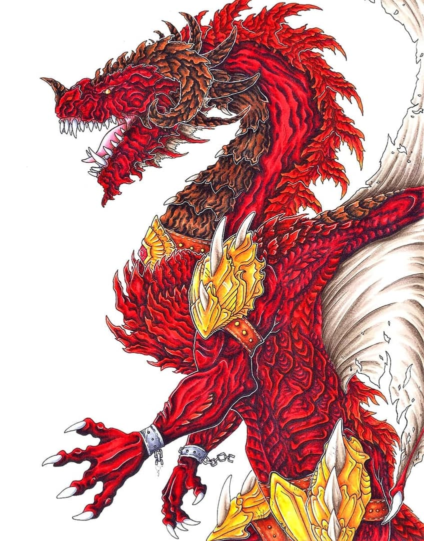 Red Dragon to Draw