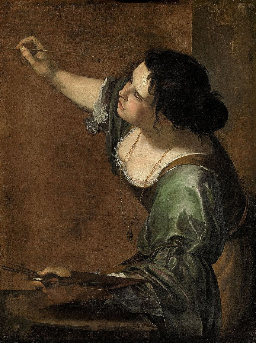 Gentileschi Self-Portraits Art