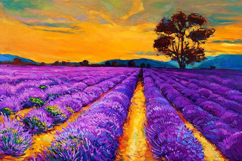 Deep Purple Painting