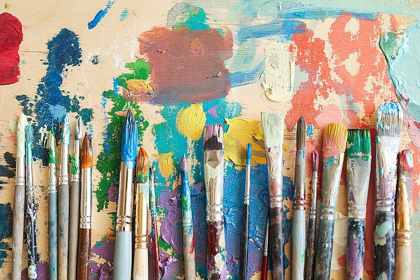 How to Clean Dried Acrylic Paint Brushes