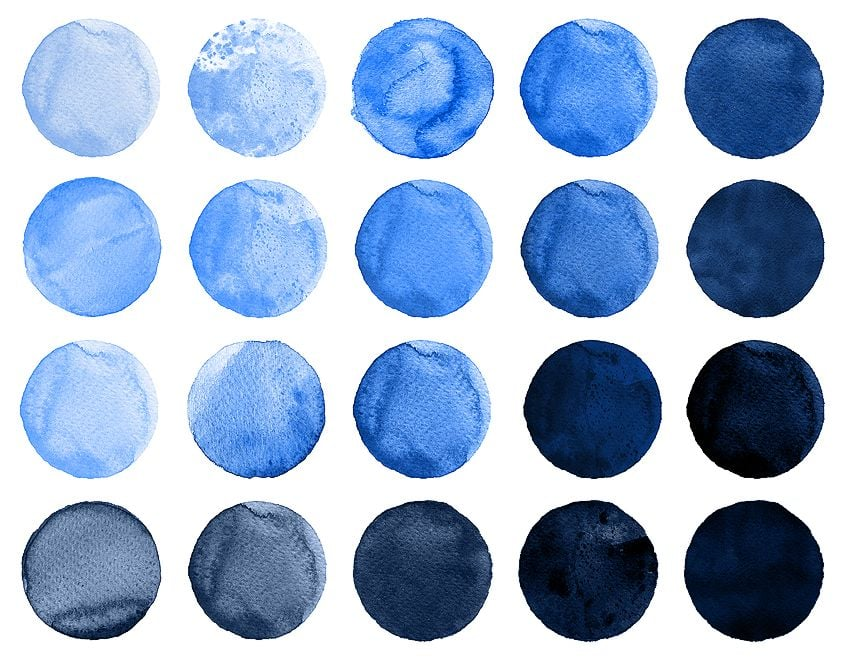Warm Types of Blue