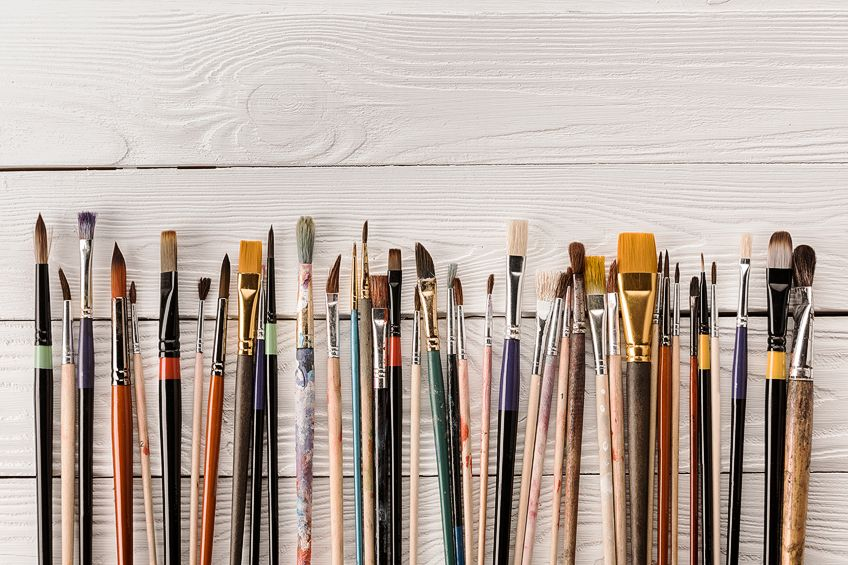 Clean Oil Paint Brushes