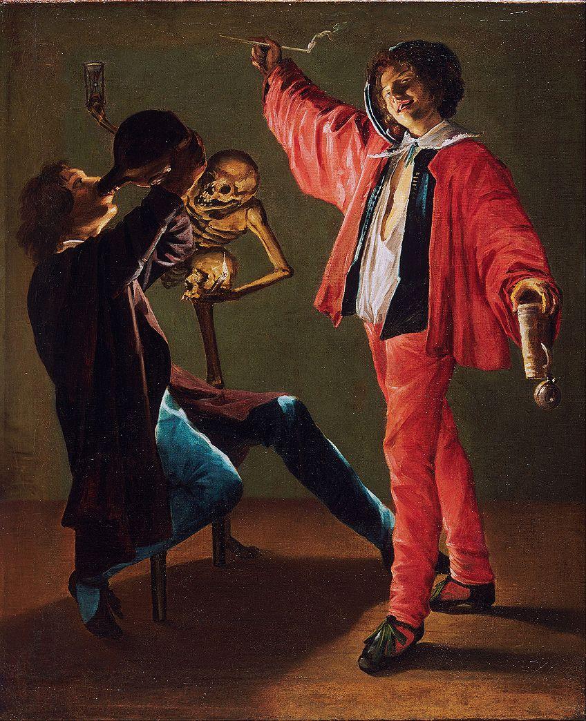 Vanitas Artist Painting