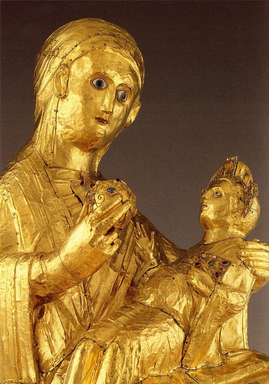 Golden Medieval Sculptures
