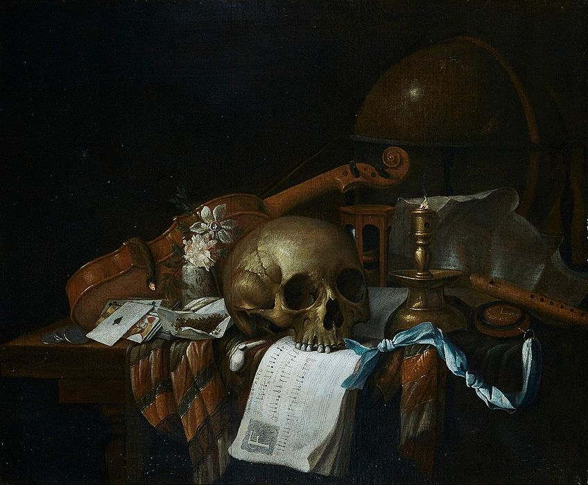 Human Skull Drawing in Art