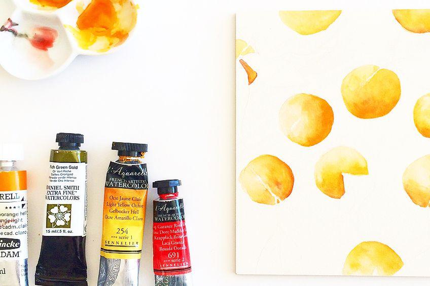 Painting Shades of Orange