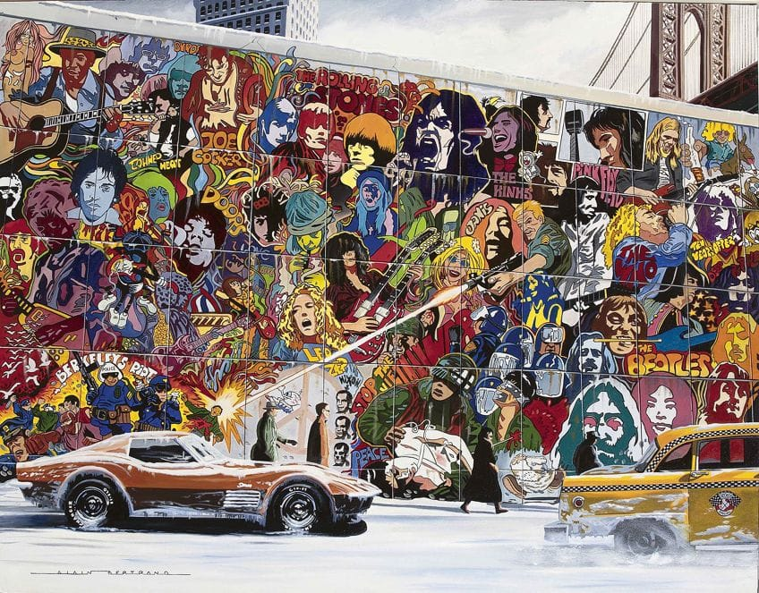 Psychedelic Art Mural