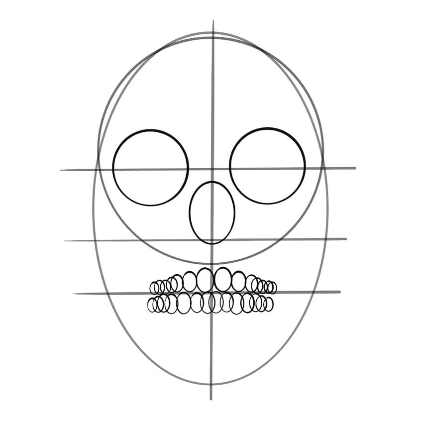 Skull Sketch 08