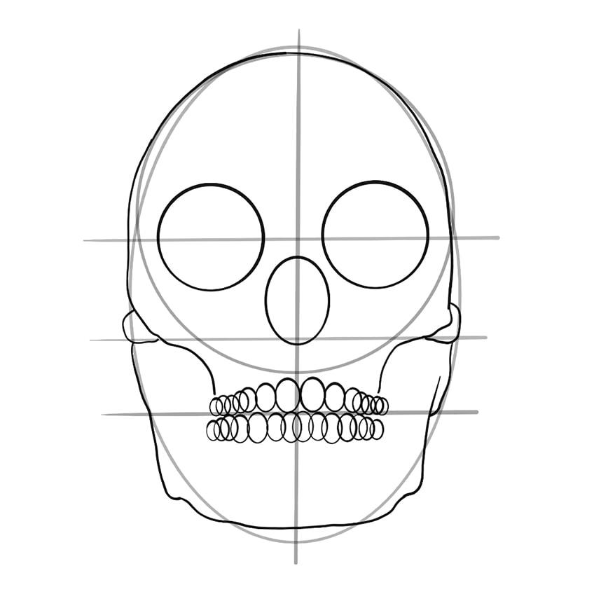 Skull Sketch 09