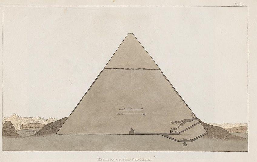 Cross Section of Egyptian Art Pyramid