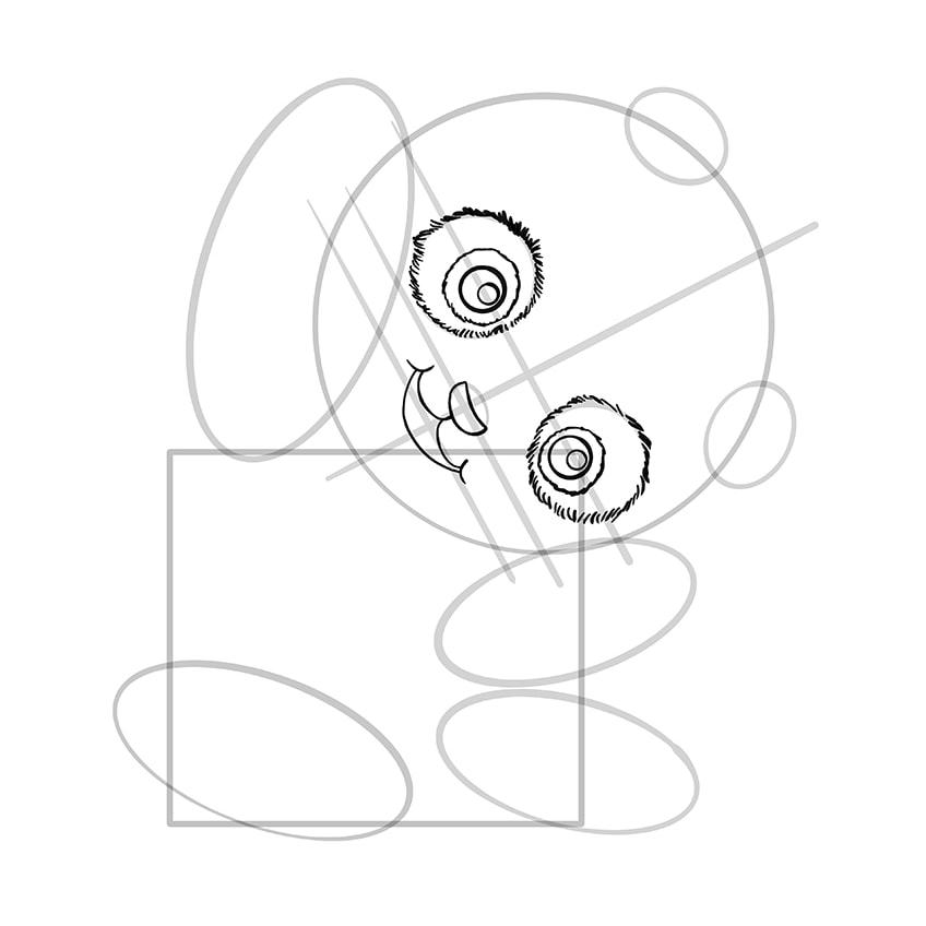 Cute Panda Drawing Step 08