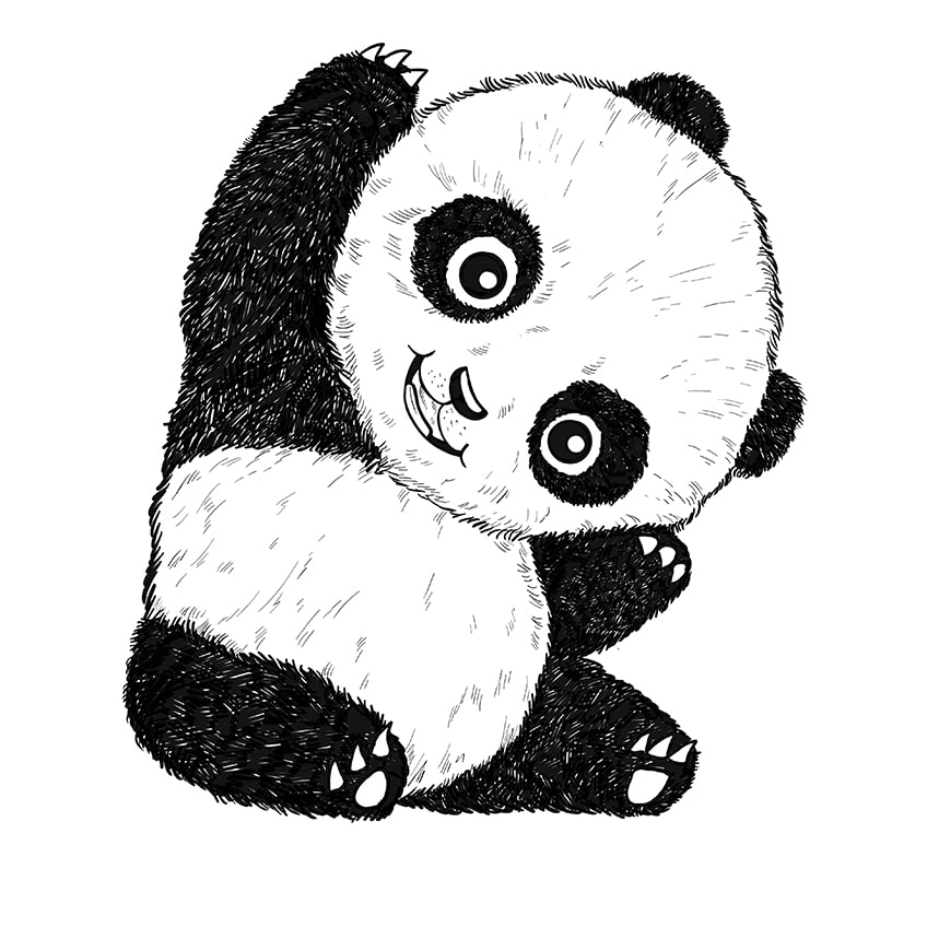 Cute Panda Drawing Step 10