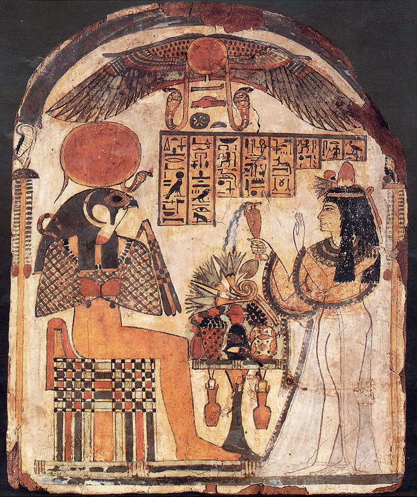 Egyptian Paintings on Sheles