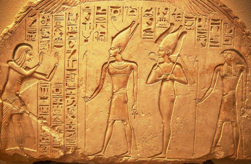 Hieroglyphs in Egyptian Art