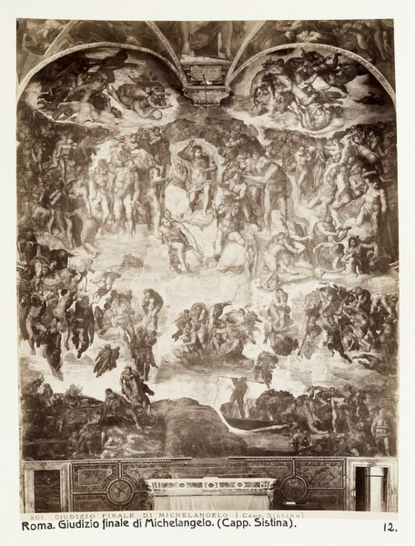 The Last Judgement in the Sistine-Chapel