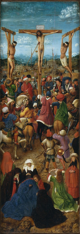 Left Side of Jan van Eyck Oil Painting