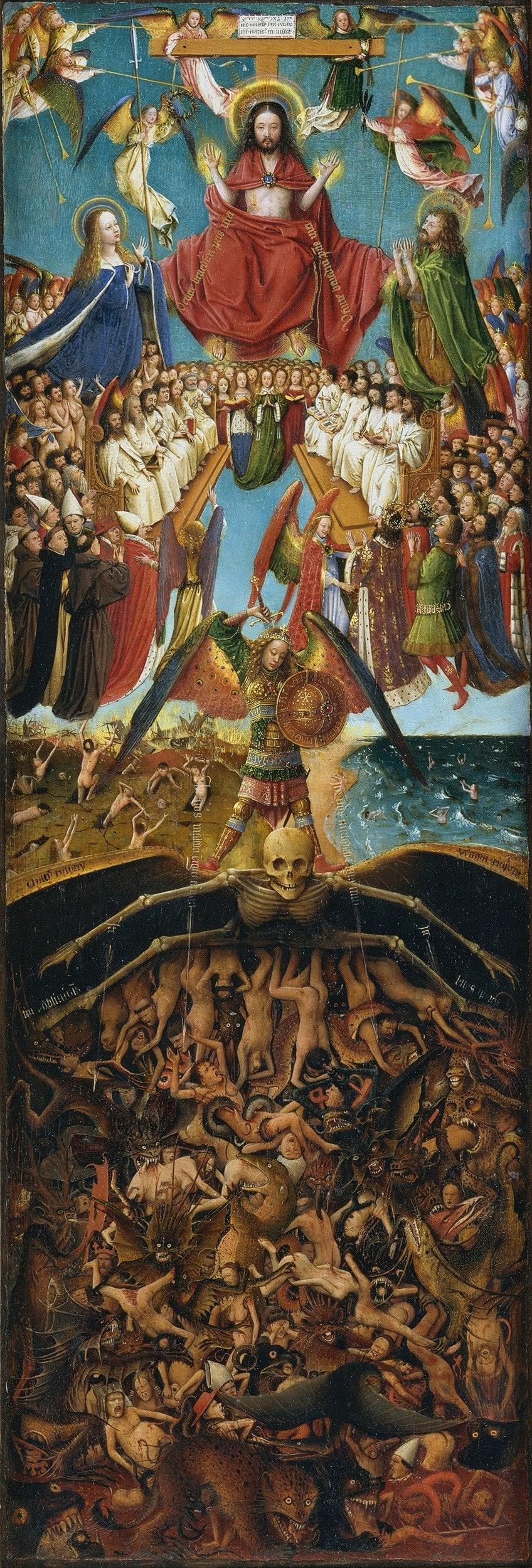 Right Side of Jan van Eyck Oil Painting